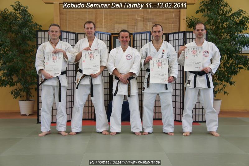 Kobudo Dan-Urkunden für Michael, Thomas, Holger und Kay
