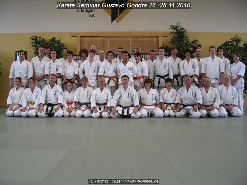 Gruppenfoto Karate Lehrgang 26.-28.11.2010