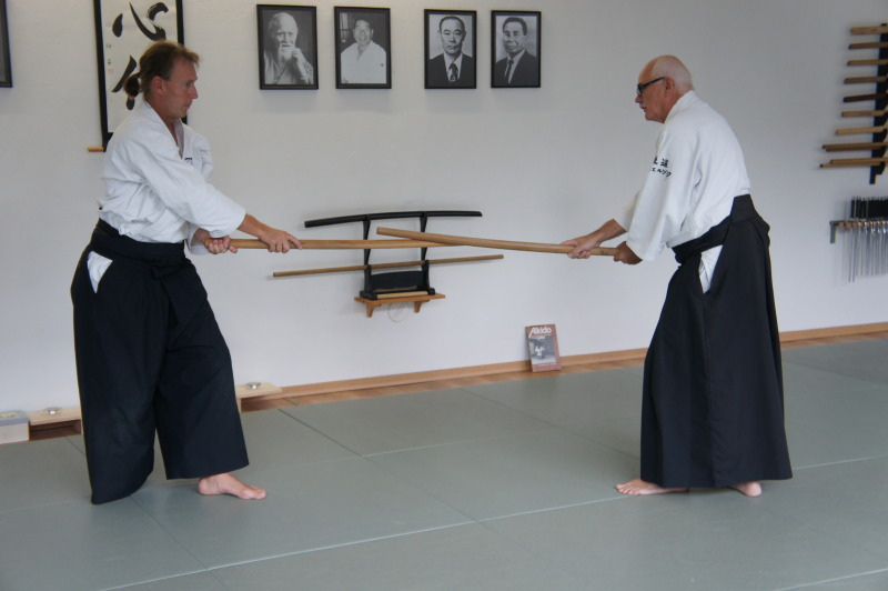 Thomas Podzelny (links) mit seinem Lehrer Norbert Schwierzock