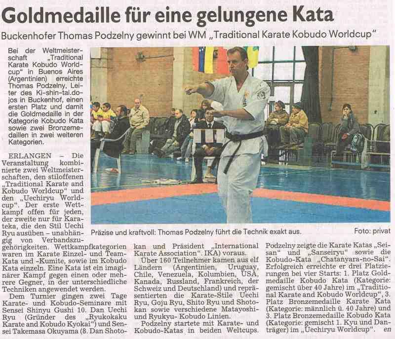 Bericht in den Erlanger Nachrichten vom 3.Juli 2012