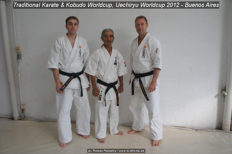 Markus Wedel, Sensei Shinyu Gushi, Thomas Podzelny