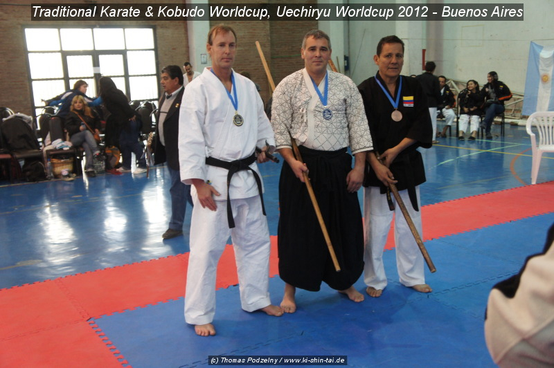 Thomas Podzelny, 1. Platz Gold Kobudo Kata beim 'Traditional Karate and Kobudo Worldcup'