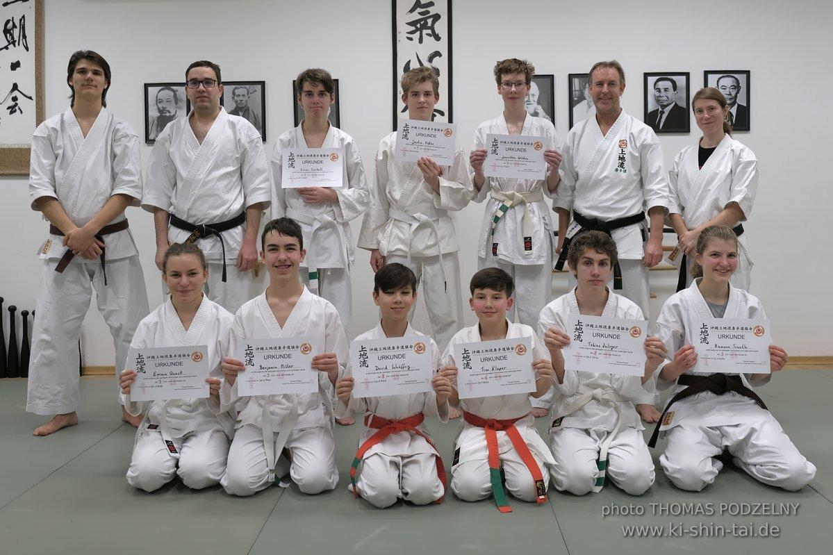 Karate und Kobudô Kyû Prüfungen 31.1.2020