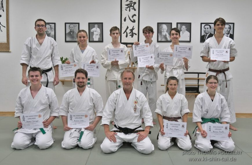 Karate und Kobudô Kyû Prüfungen 24.7.2020